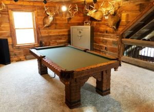 8' Rustic log billiard pool table handmade Wild West table