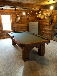 Grizzly Rustic Log Handmade pool Table