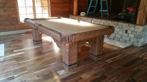 Wild West rustic log hand-made pool table